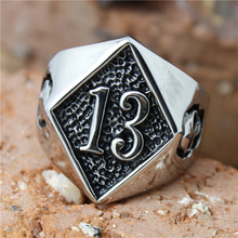 Band Party 316L Stainless steel Polishing Silver Biker 13 Ring Cool Skull Biker Ring(China (Mainland))