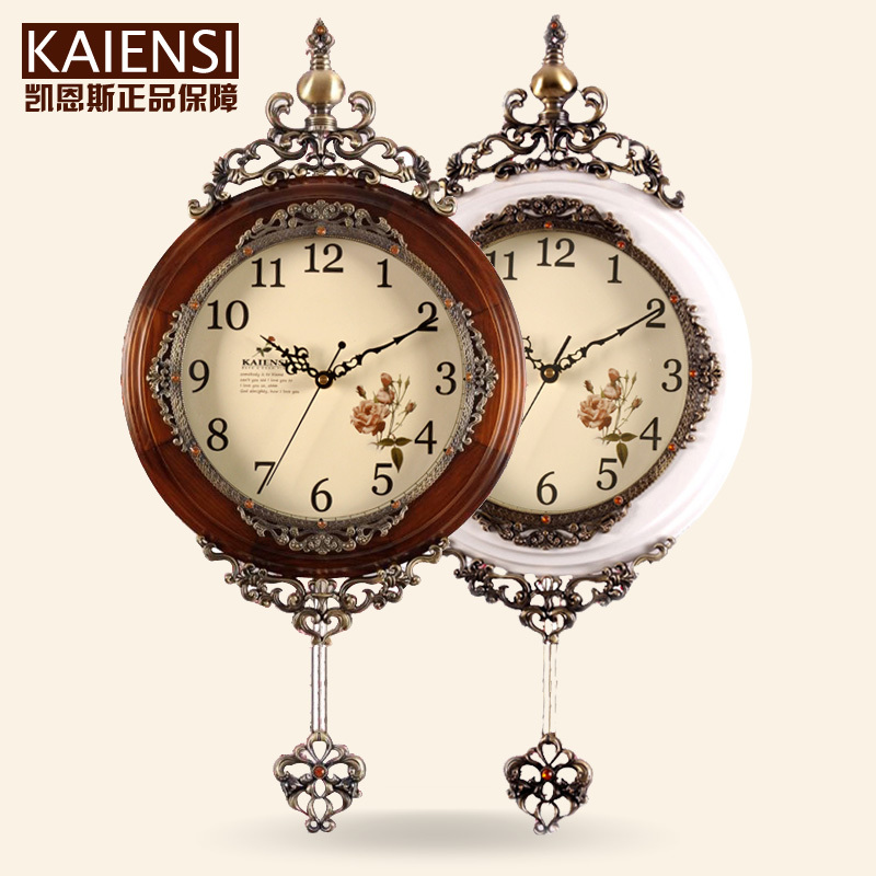 Wood living room european style wall clock watch cairns mute creative pendulum wall clock simple - Stylish pendulum wall clock ...