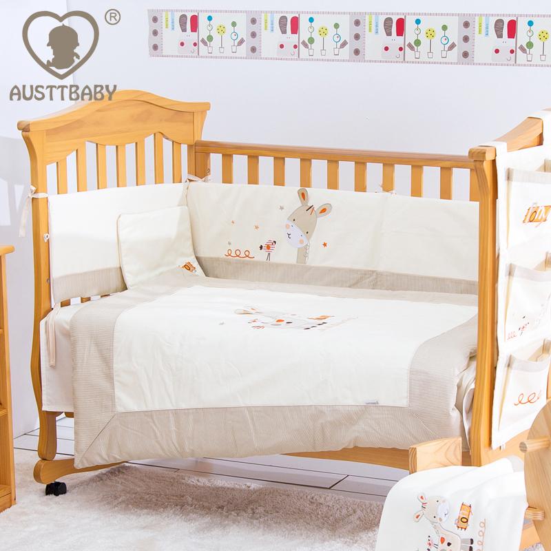 Deer Crib Bedding For Boys : Pcs cotton baby crib bedding set for girls boys cartoon
