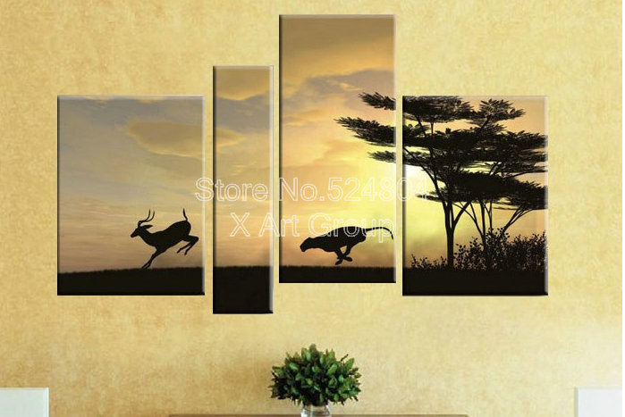cheap kangaroos living in australia abstract paintings for living room