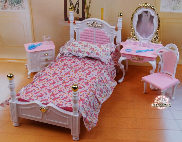Barbie Dollhouse Promotion Shop for Promotional Barbie  : New Design Princess Bed Dresser Chair Set font b Dollhouse b font Furniture Bedroom Accessories For from www.aliexpress.com size 748 x 585 jpeg 79kB