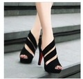 2015 new Korean peep toe shoes sandals tide Rome shoes waterproof Sexy Heels night club party