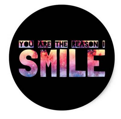 1.5inch You Are The Reason I Smile Classic Round Sticker(China (Mainland))