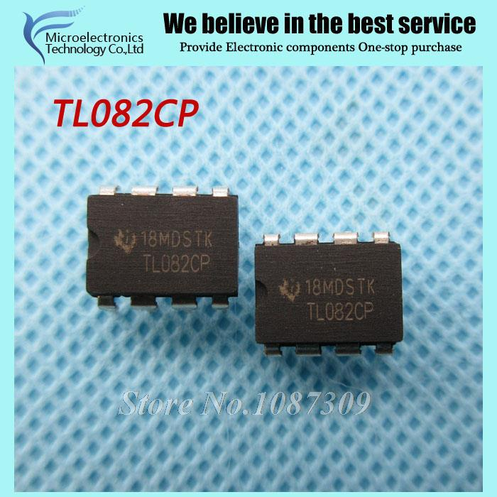 50pcs free shipping TL082CP TL082 TL082C DIP-8 Operational Amplifiers - Op Amps JFET Input Low NoiseC new original(China (Mainland))