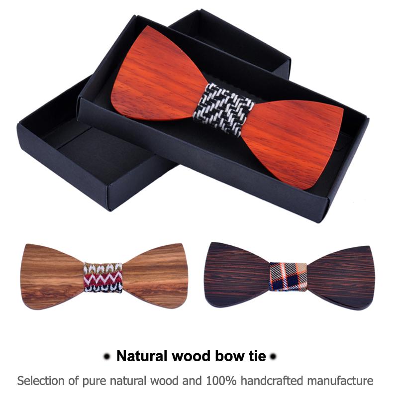 New Bow Tie Wedding Party Wood bowtie Neck Tie SBW1002(China (Mainland))