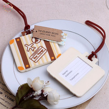 1Pcs/lot Wedding Favor Travel Themed Airplane Luggage Tag Wedding Gift for guests Party Supplies Wedding decoration(China (Mainland))