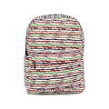 Trendy Casual Colorful Stripe Backpack Women Ethnic Style Print Contrast Color Durable Zipper Bag Ladies Designer