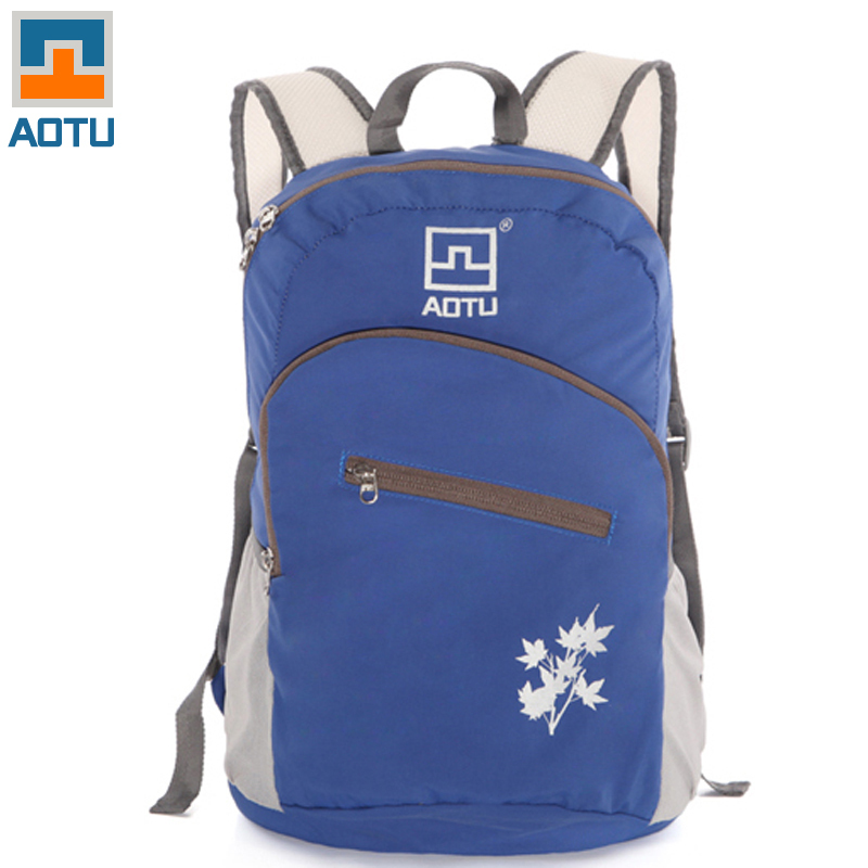 Гаджет  AOTU Big Capacity  Portable Zipper Solid Nylon Daily Travel Mountaineering Backpacks Shoulder Bags Folding Bag High Quality Bag  None Камера и Сумки