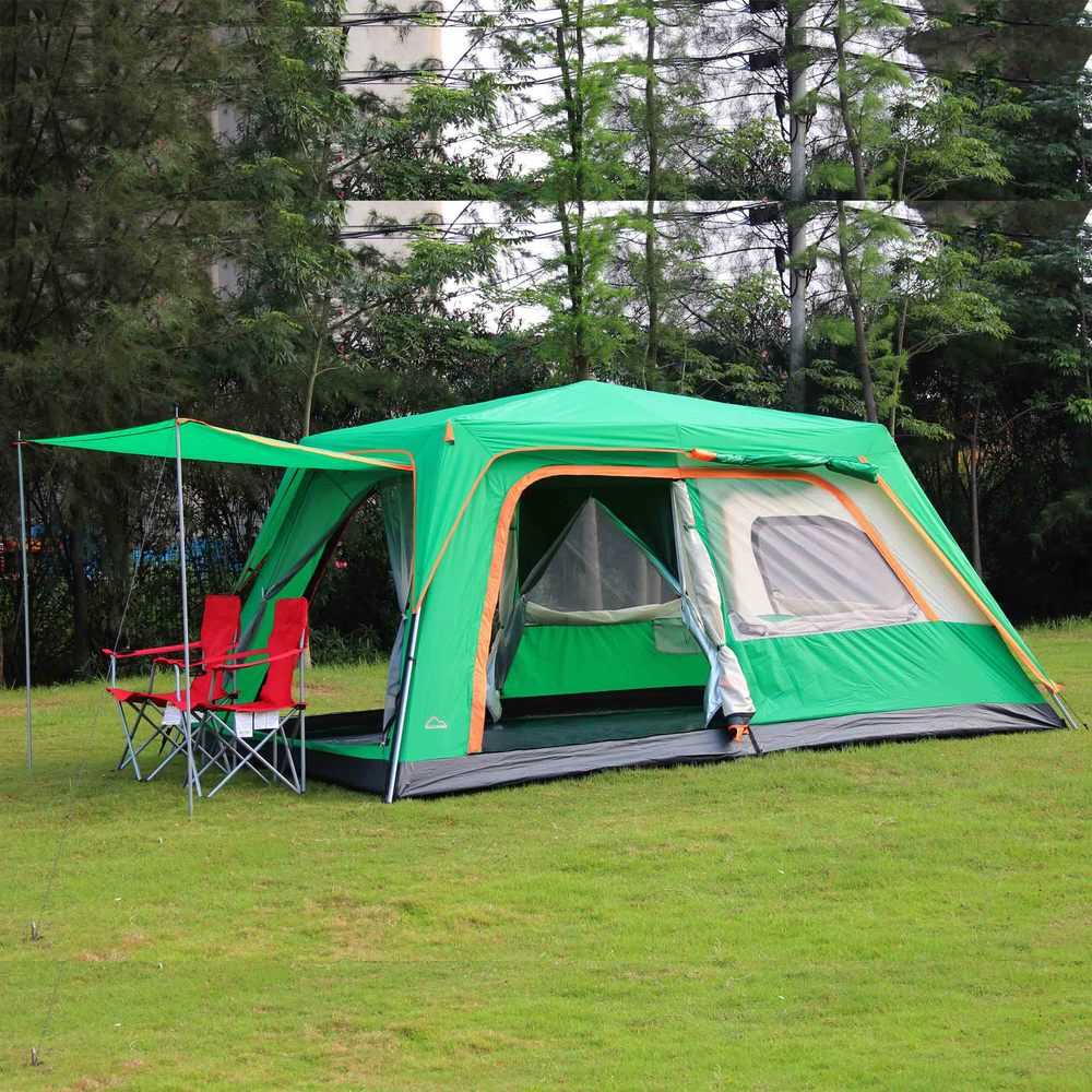 CHALLENGER Outdoor 4 6 8 more persons double layer automatic speed quick open outdoor camping large family tent(China (Mainland))