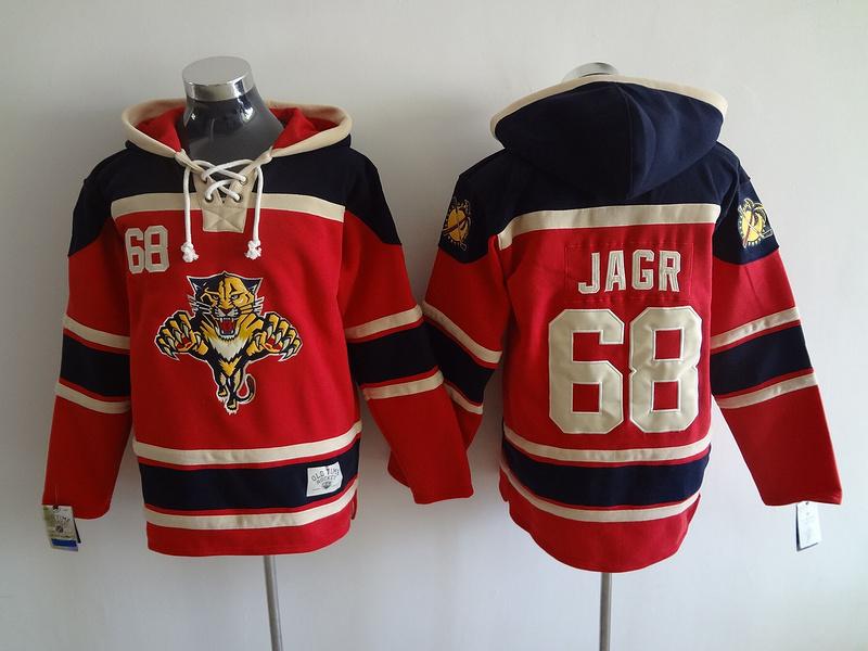2016 New Old Time Hockey Jerseys Florida Panthers Hoody 68 Jaromir Jagr Hoodie Red Sports Pullover Sweatshirts Jacket(China (Mainland))