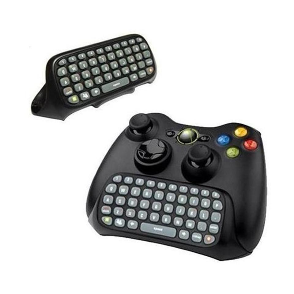 Mensajero juego teclado teclado chatpad para xbox 360 negro negro