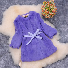 Autumn winter new 2016 slim long women's genuine rabbit fur coat outerwear women jacket with cashes plus size S-6XL available(China (Mainland))