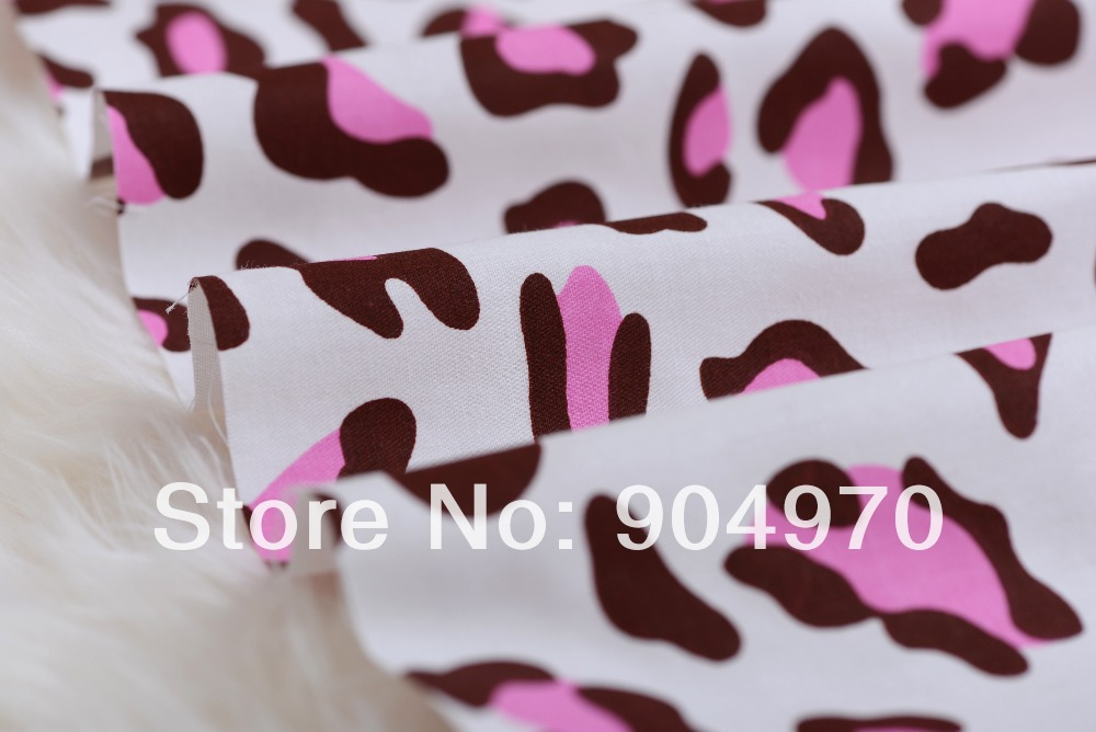Quilting bedding patchwork leopard pink baby fabric cotton for Cotton fabric for children s clothes