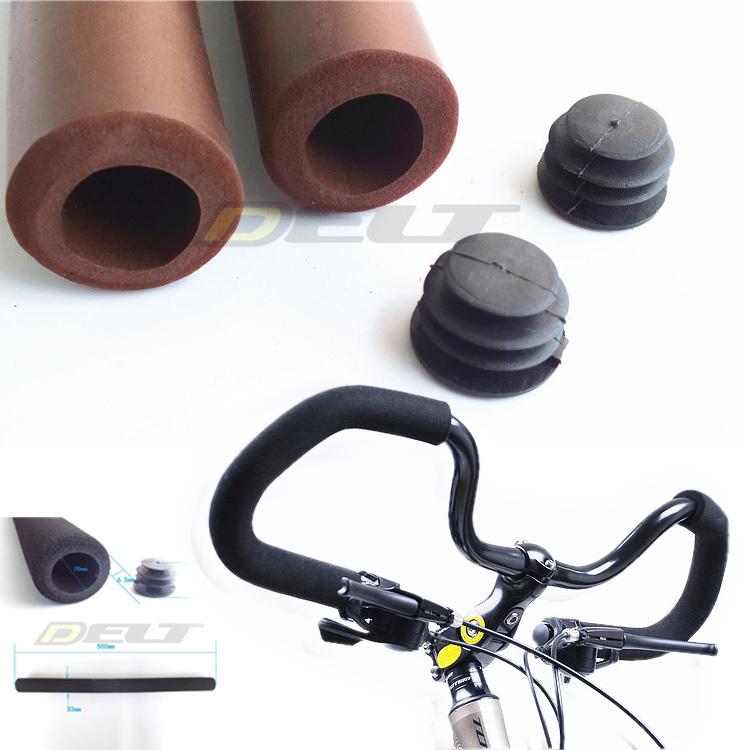 Bicycle Grips Bike Cyclling Butterfly Handlebar Shock-absorbing Matte Soft Foam Sponge Grips Handle Bar 50cm Brown(China (Mainland))
