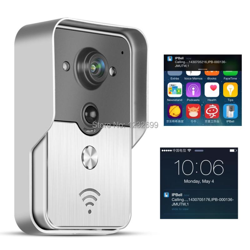 Smart WiFi video doorbell for smartphones