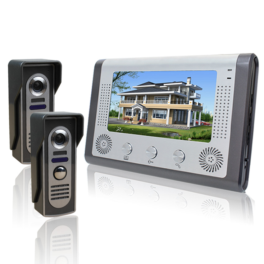7 inch color cable home video intercom doorbell, night vision, building intercom, disturb a drag two(China (Mainland))