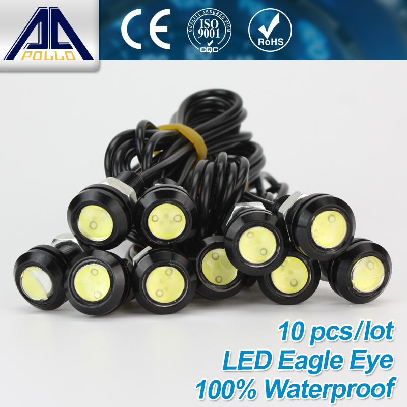 Free Shipping 10pcs High brightness DRL Eagle Eye Daytime Running Light LED Car work Lights Source Waterproof Parking lamp(China (Mainland))