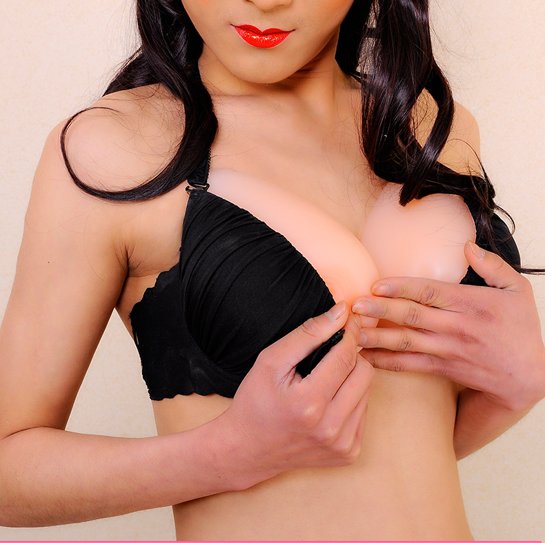 600g B cup silicone breast forms breast transsexual realistic crossdresser silicone artificial breast drop shipping(China (Mainland))