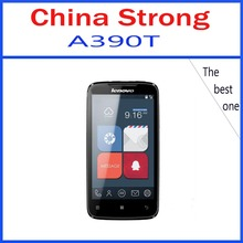 Original lenovo A390t  A390 cell phones Dual-core mobile phone android 4.0 MTK6577 Dual core 5MP dual camera mobile phone