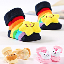 2015 Cartoon antiskid newborn baby girls boys infant toddler baby accessories socks learning walk baby shoes toes socks JXYB0032(China (Mainland))