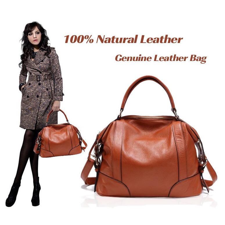 Hot 2015 Brand Design First Layer Cowhide Leather 100% Genuine Leather Women Handbag Fashion Shoulder Bag Ladies Messenger Bag<br><br>Aliexpress