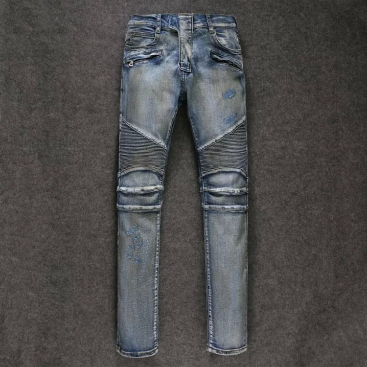 Skinny Jeans Limited European And American Retro 2015 Men Jeans Washing Process Heavy Oil Knee level