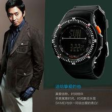 Lujo militar Digital Light hombres del silicón deportes cronómetro reloj fecha