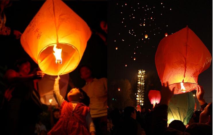 Free shipping,SKY Balloon Kongming wishing Lanterns,Flying Light Halloween Lights,Chinese sky Lantern Wholesale 100pcs/lot(China (Mainland))