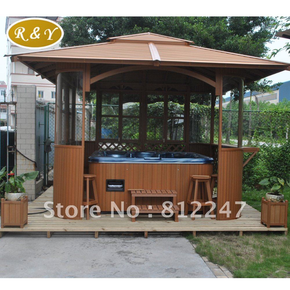 Hexagon cedar gazebo kit 8ft w86 - Wooden Gazebos Picture In Gazebos From Guangzhou Royal Sanitary Ware