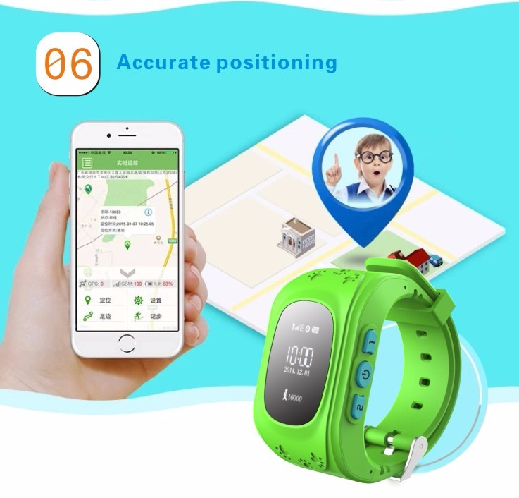 ถูก QYT Q50จีพีเอสSosTrackerเด็กเด็กGPSติดตามGPS Watchสมาร์ทป้องกันการสูญหายเด็กนาฬิกาปลุกสำหรับIOS A Ndroidป้องกันการสูญหายนาฬิกา