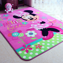 Lovely Child girl Lovely Minnie Mouse pink game carpet environmental protection non-slip bedroom rug size 1500MMX2000MM(China (Mainland))