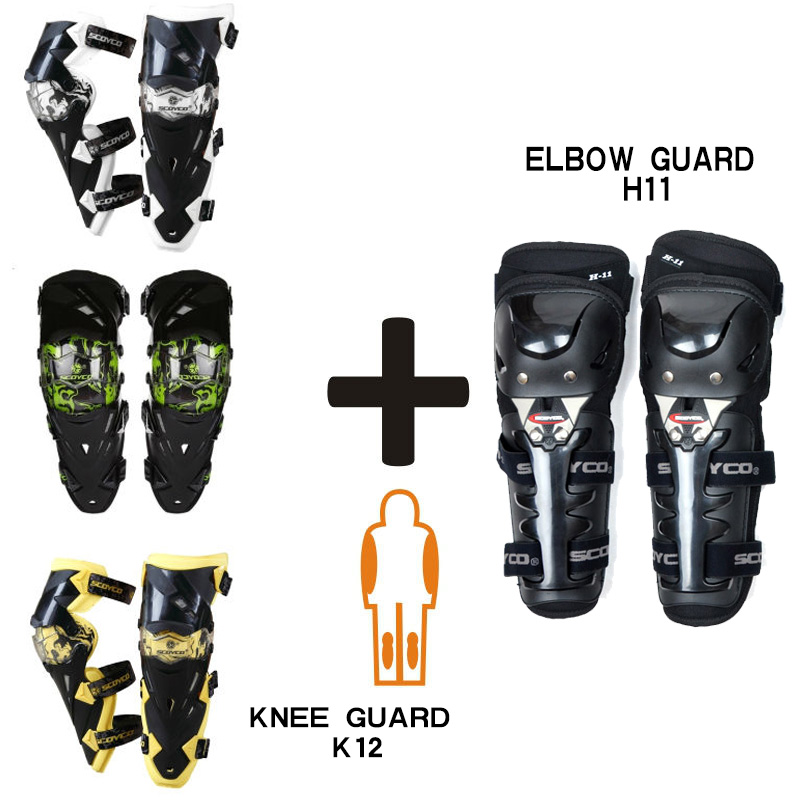 Scoyco K12H11 Motorcycle Knee Protective kneepad Elbow Protector Motocross Equipment CE Approval Guards Racing(China (Mainland))