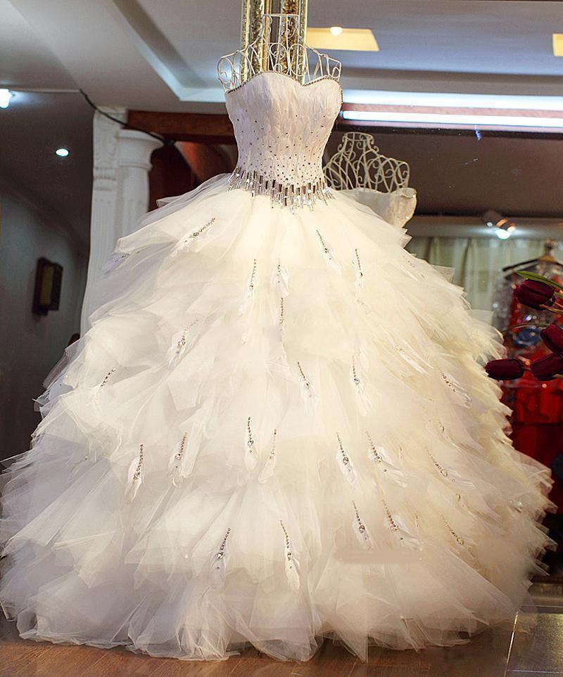 Свадебные платья из перьев