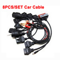 8PCS Set OBD2 Cables for Car Diagnostic Tool Auto Scanner Interface For Tcs Cdp PRO Full