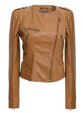 new arrival women Leather jacket 2014 autumn slim leather coat PU motorcycle jacket ladies black/Brown leather jacket coat 528(China (Mainland))