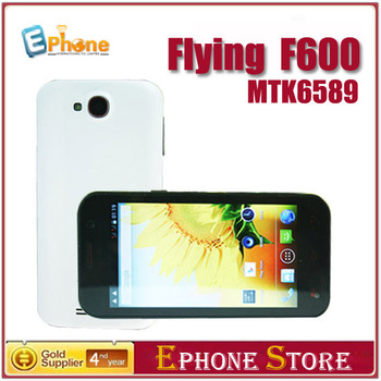 In Stock!!40% OFF!! Crazy Price!!Flying F600 MTK6589 Quad Core 4.7 inch 1GB RAM 8.0MP Android 4.1 Leather Case as Gift