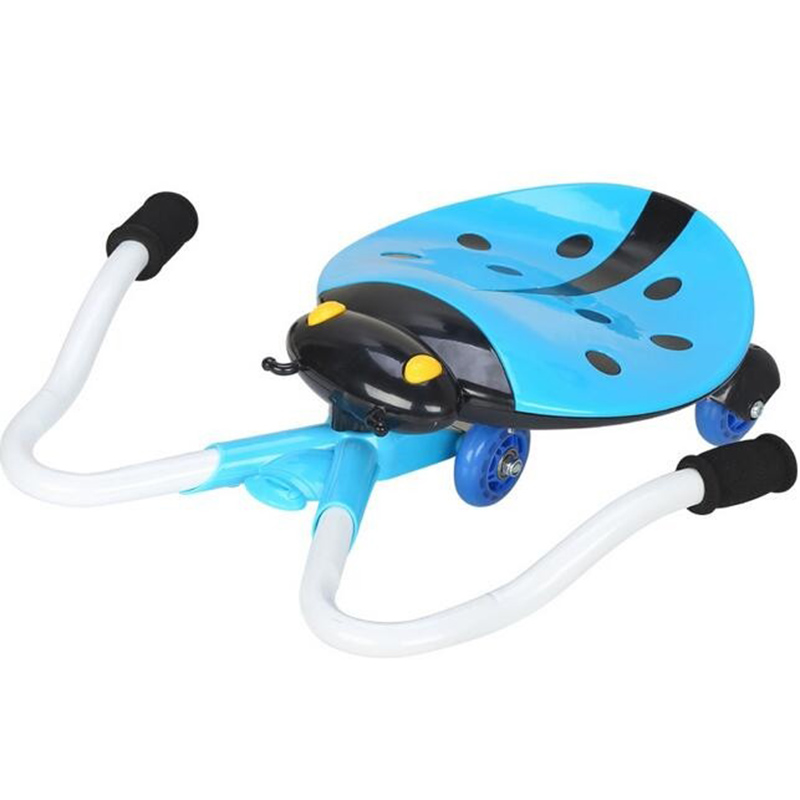 Ladybug Drift Type Pedal Wiggle Swing Scooter With Music Light Kids3-8 Years Children Ride On Car Toys TD0074