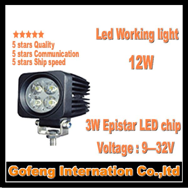 1PCS/LOT hot sales DC10-30V IP6712W led work light spot beam Offroad Truck epistar 3w ship working lamp free shipping(China (Mainland))
