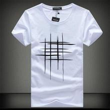SWENEARO 2018 Simples design criativo linha cruz Impressão de algodão T Camisas dos homens Novos da Chegada do Verão Estilo de Manga Curta Dos Homens t-shirt(China)