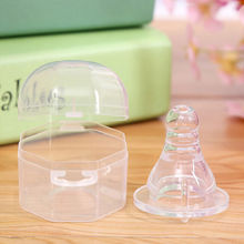 "Baby Pacifier Novelty Nipples for Baby Silicone Toddler Teether Care Shaped Hole Feeding Bottle Clear Standard Diameter ""+""(China (Mainland))"