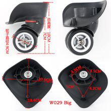 Replacement Luggage Suitcase Wheels Swivel Universal Right & Left Wheel For Rubber Trolley Case(China (Mainland))