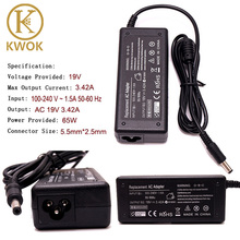 19V 3.42A Universal Laptop Charger Tips Replacement AC Adapter Power Supply Charger Cord for Toshiba SADP-65KB Notebook Charger