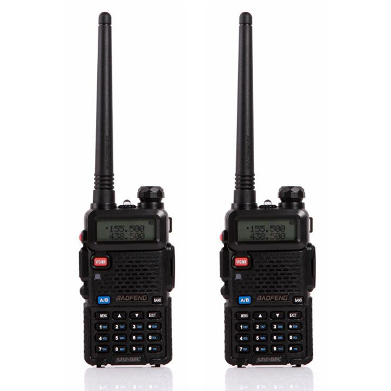 2pcs/lot Baofeng UV-5R Walkie Talkie Ham Radio UHF&VHF 136-174MHz&400-520MHz 128 Dual Band Two Way Radio 5W HF Transceiver(China (Mainland))
