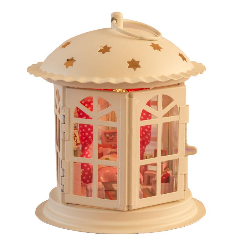 2015 Hot Sale Star Story Christmas Gift Ideas DIY Iron Hut Assembled Model Children Toy I001 LD009(China (Mainland))