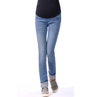 spring autumn adjustable maternity skinny jeans pregnant  woman soft soft trousers belly pants