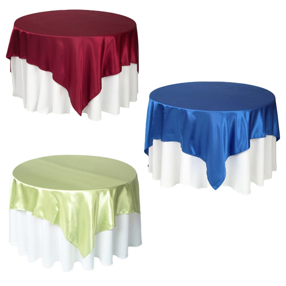 57 Inch Stain Tablecloth Polyester Table Cloth Knitted 3 colors Table Cover Knitting Tableware For Banquet Kitchen Wedding Hotel(China (Mainland))