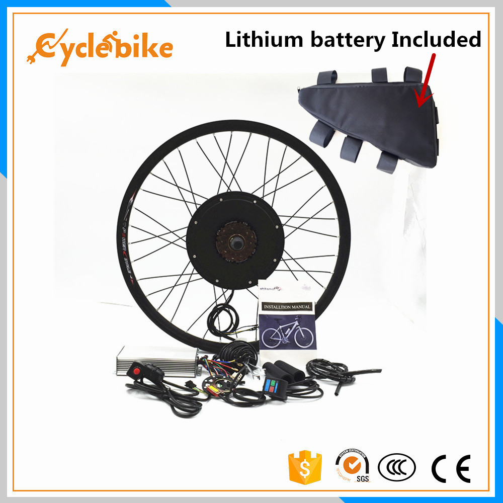 Front or rear motor 65km/h 48v 1500w Ebike Electric bike conversion kit with Lithium battery pack(China (Mainland))