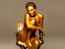 Golden Skin Hot Naked