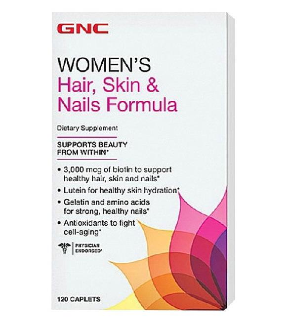 Free shipping Women's Hair, Skin & Nails Formula 120 Cablets biotin, Lutein, Gelatin and amino acids & Antioxidant Protection(China (Mainland))