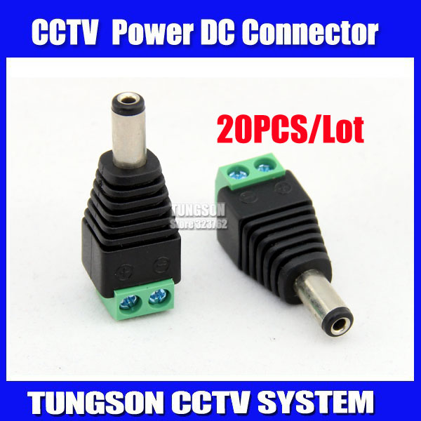 20pcs/lot CCTV BNC Accessories Professional male DC Power Supply Converter for CCTV Security Cameras AC14(China (Mainland))